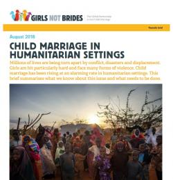 Child marriage in humanitarian settings