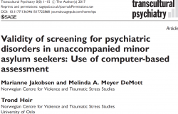 Validity of screening for psychiatric disorders in unaccompanied minor asylum seekers