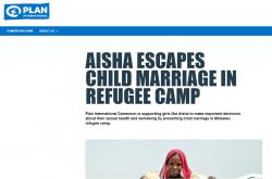 Aisha escapes child marriage in refugee camp