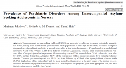 Prevalence of Psychiatric Disorders Among Unaccompanied Asylum- Seeking Adolescents