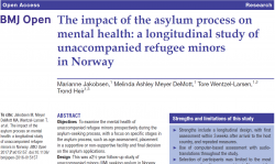 The impact of the asylum process on mental health. Unaccompanied refugee minors
