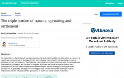 The triple burden of trauma uprooting and settlement
