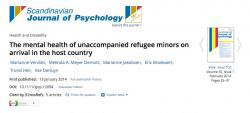 The mental health of unaccompanied refugee minors on arrival in the host country