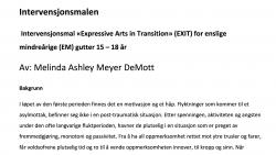 Intervensjons mal «Expressive Arts in Transition (EXIT)» for enslige mindreårige (EM)